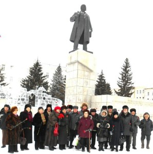 Kurgan_city-Russia-In_Conmemoration_of_Lenin-21.01.2014