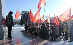 Saratov_city-Russia-In_Conmemoration_of_Lenin-21.01.2014
