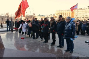 The floral tribute at the Mausoleum of Vladimir Lenin 21.01.2015 (0)