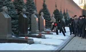 The floral tribute at the Mausoleum of Vladimir Lenin 21.01.2015 (11)