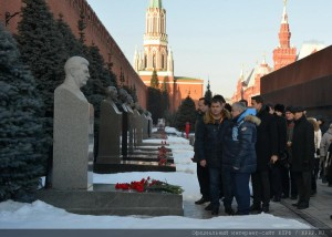 The floral tribute at the Mausoleum of Vladimir Lenin 21.01.2015 (13)