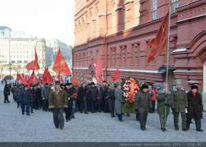 The floral tribute at the Mausoleum of Vladimir Lenin 21.01.2015 (8)